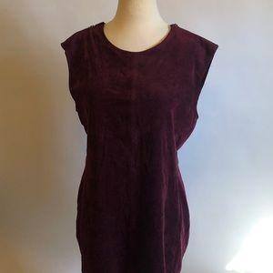 BCBG Max Azria Large Plum Mini Velvet Dress